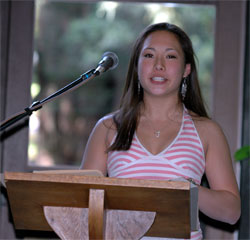 Accepting 1st Place Award at UCSC's book collection essay contest