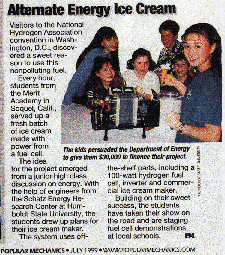 Alternative Energy Ice Cream Article